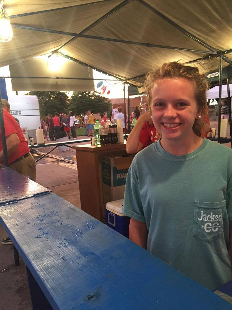 Julia Kidwell says one of her favorite things about Homecomers is the Demolay ice cream.