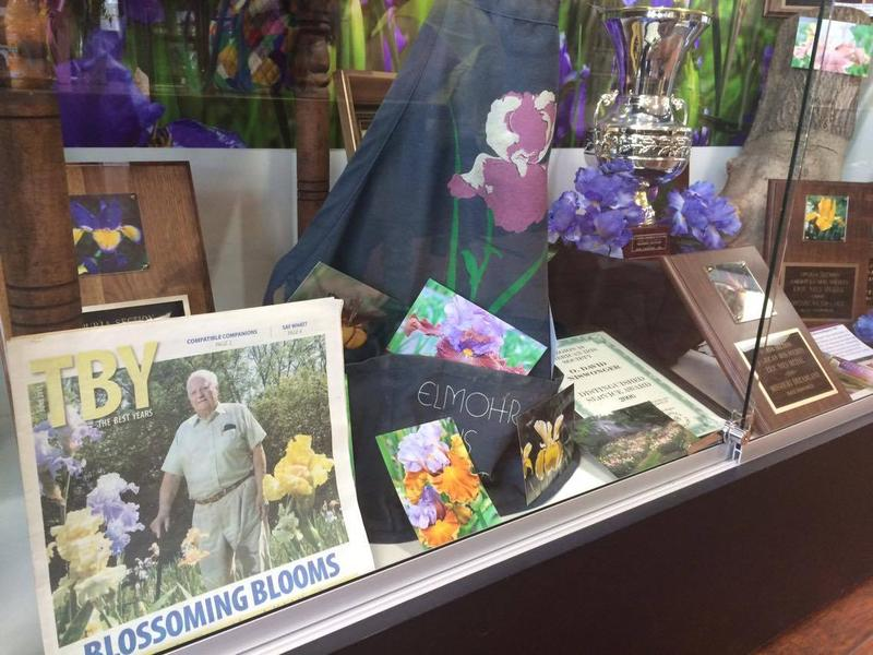 A packed display case at the Cape Girardeau County History Center highlights Niswonger's hybridizing accomplishments.