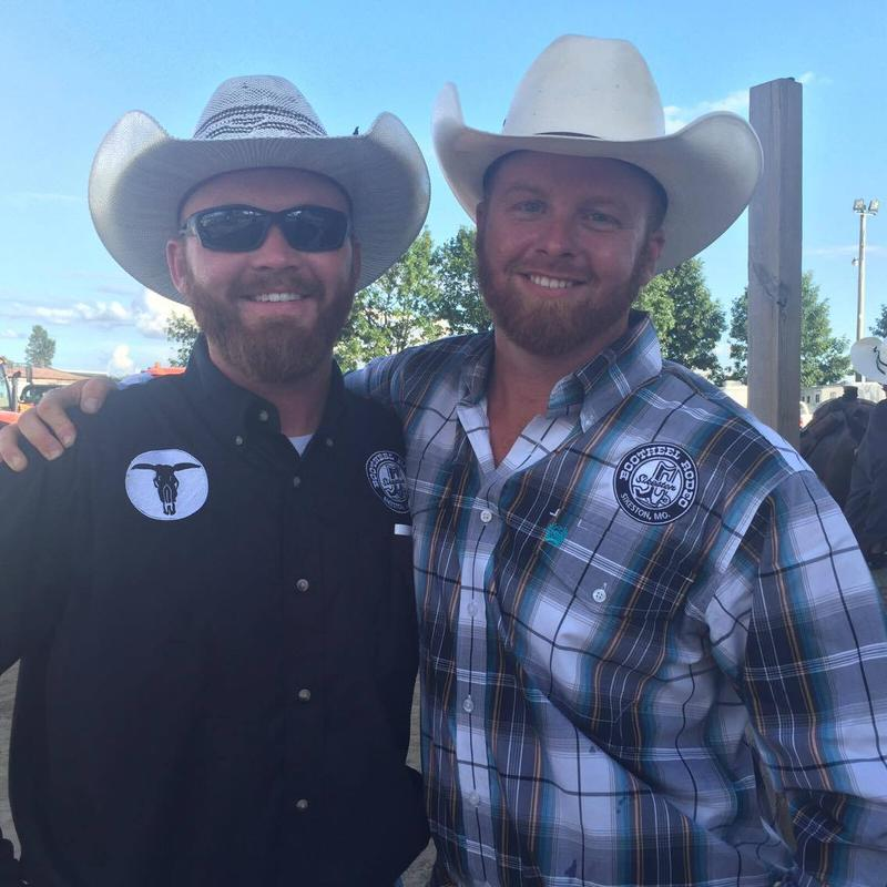 Issac Quick, left, and Trent McMillan, right, worked behind the scenes at the rodeo.