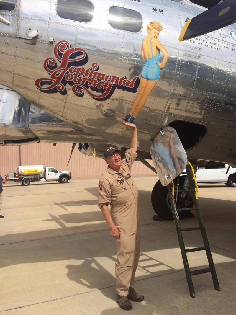 Larry Perkins is the pilot of Sentimental Journey. He's flown the plane for 26 years.
