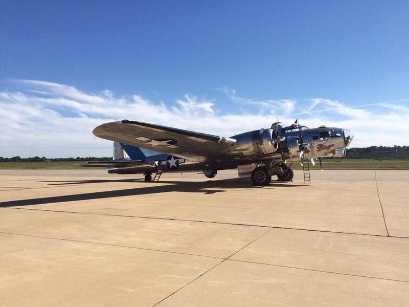 B-17 bomber 'Sentimental Journey' made its way to Cape Girardeau Regional Airport on Monday September 26, 2016. The flying fortress is currently on its Flying Legends Victory Tour.