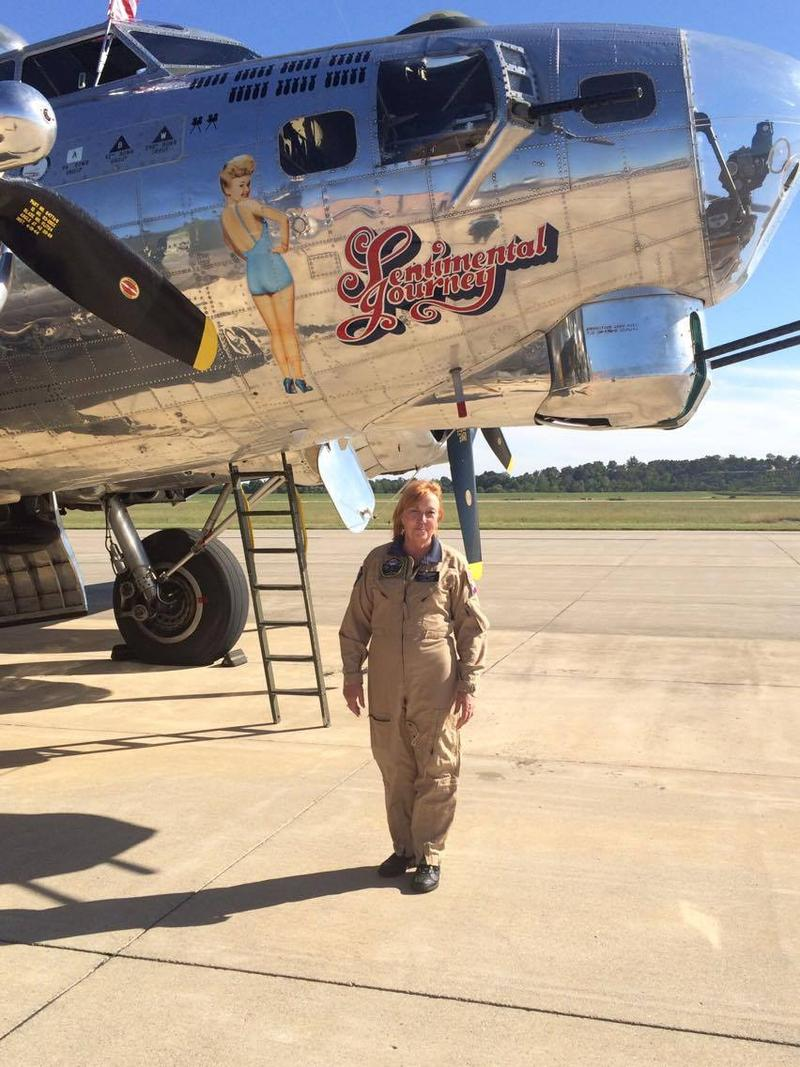 Shelby Bolkey is the load master for the B-17.