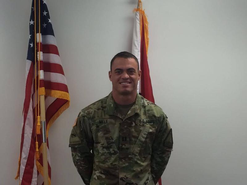 Iraq war veteran Capt. Tyson Mele