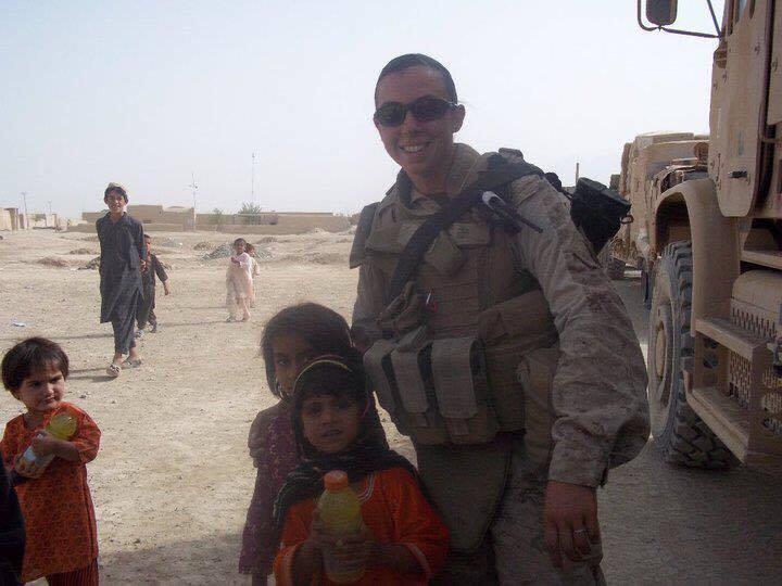 Cpl. Annie Morozko in Afghanistan. Morozko served in the Marine Corps.