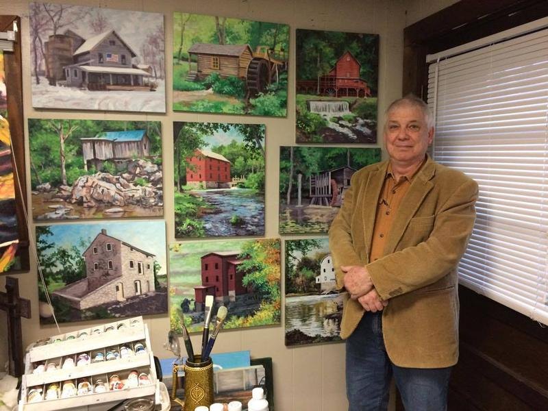 Local artist Dave Carter is painting many of southern Missouri's remaining mills.
