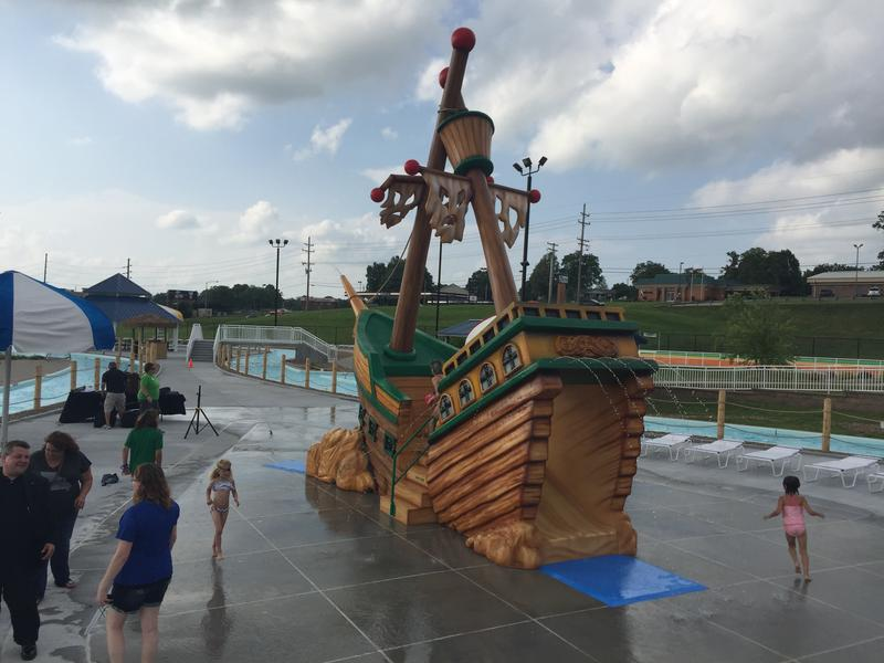 "The newest Cape Splash attraction, ""Shipwreck Island."""