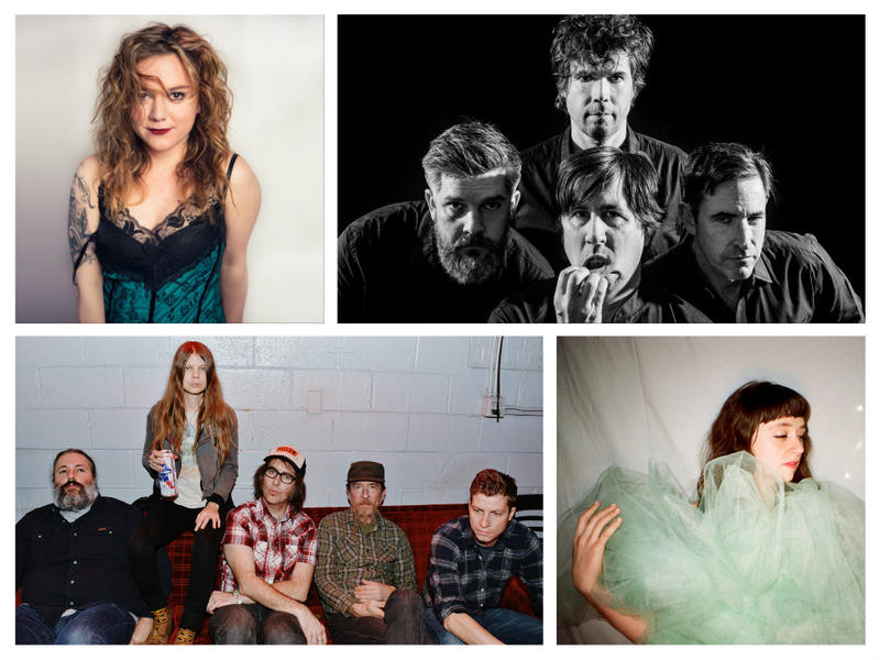 Clockwise from upper left: Lydia Loveless, The Mountain Goats, Sarah Shook & the Disarmers, Waxahatchee