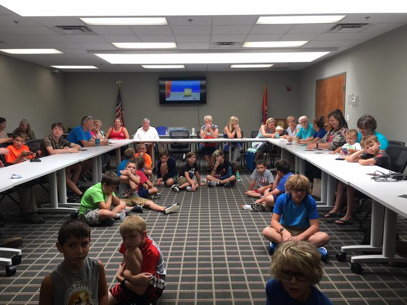Parents attended their kids' robot presentations at Codefi in Cape Girardeau.