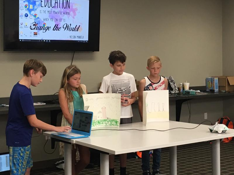 "Another group of kid coders presented a ""Wizard of Oz"" themed routine at the coding camp."