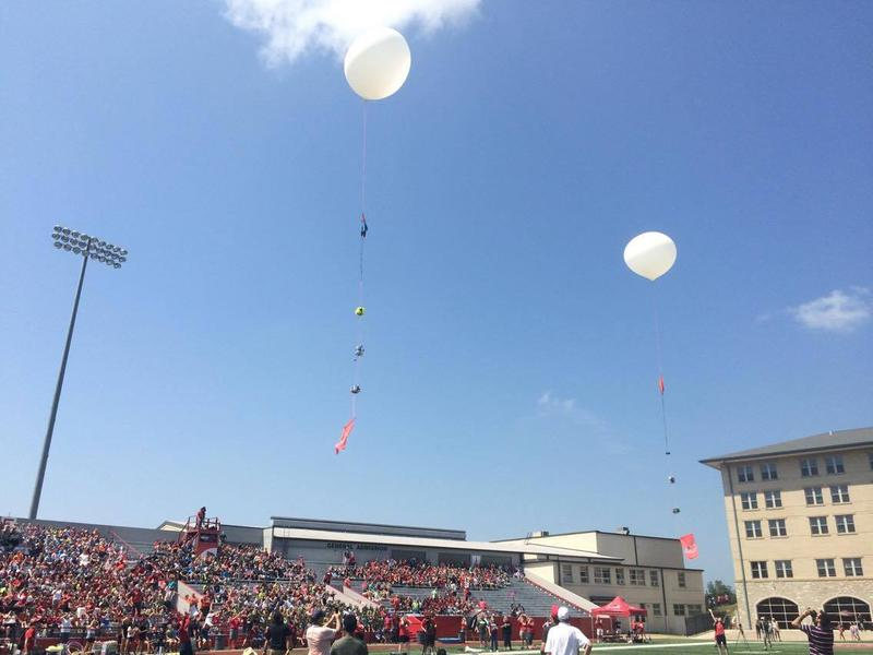 Two high-altitude weather balloons were launched into the stratosphere from the field. The balloons were part of a collaboration between the university and Space Center Houston-Manned Space Flight Education Foundation.