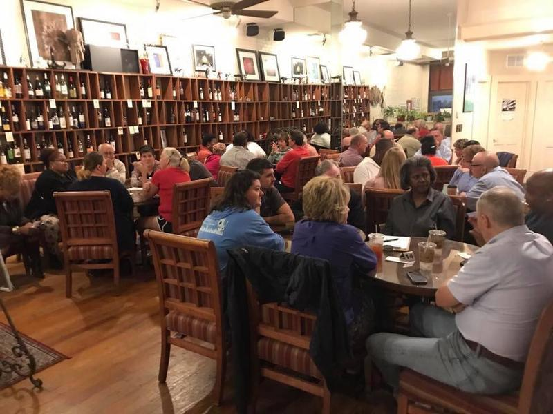 The new community conversations series at Cup 'N Cork in Cape Girardeau.