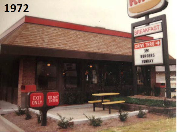 Burger King in Cape Girardeau circa 1972