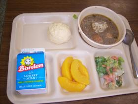Cafeteria lunch from Acadiana