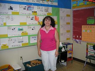 Woodvale Elementary Kindergarten teacher Tonya Lambert, who is an evacuee from St. Bernard Parish
