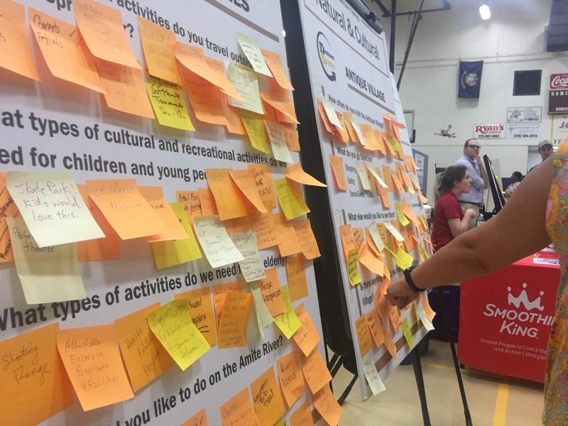 Denham strong held three open houses over the summer to get the community's input on what a long-term recovery plan should look like.