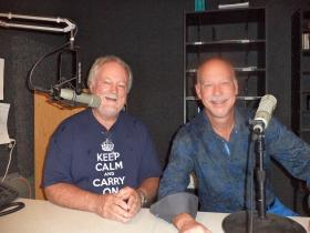 Composer and national radio host Bill McGlaughlin and LCSO conductor Lonnie Klein visited KRWG in late September, 2012.