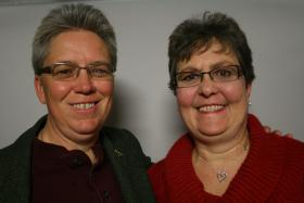 Tammy Schurr and her partner Catherine Massey