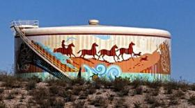 Water Tank Murals by Tony Pennock