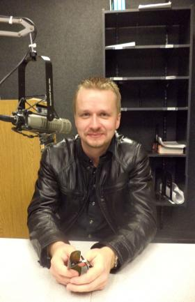 Pianist Ilya Yakushev in the KRWG studio.