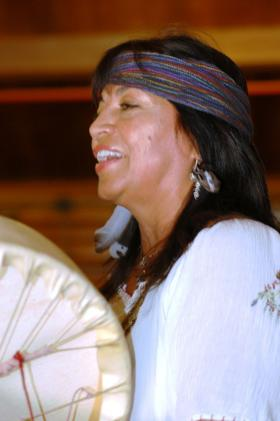 Yolanda Martinez - chanting and drumming.
