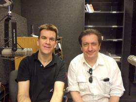 Cellist Edward Arron and Ruggero Allifranchini in the KRWG studios.