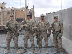 From left are Spc. Thomas Murach, Spc. Brandon Prescott, Staff Sgt. Francis Phillips and Spc. Kevin Cardoza. Also killed was 1st Lt. Brandon J. Landrum.