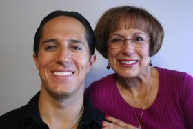 Judge Lou Martinez and her son, David Martinez
