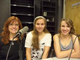 Starlight Children's Theater director Ginger Scarbrough Anderson and cast members Heather Hosford and Alyssa Gose.