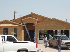 Workman build new home in Sunland Park that was financed with a USDA Rural Development Direct home loan.