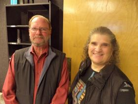 Band conductors John Schutz and Judy Bethmann