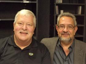 "Jazz composer and arranger Fred Sturm and NMSU trumpet professor Frank ""Pancho"" Romero."