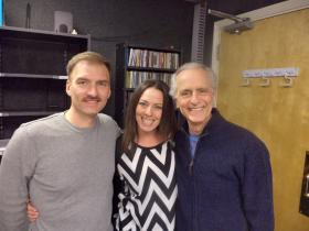 Mark Womack, Jessica Medoff and Mark Medoff at KRWG.