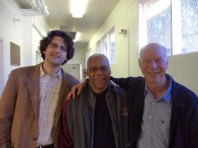 Cellis Amit Peled, Ambassador Delano Lewis, and conductor Lonnie Klein