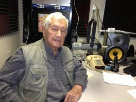 """A very active 95 year-old, Arturo """"Arthur"""" V. Flores."""