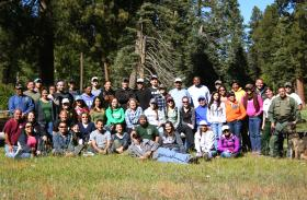 Professor Martha Desmond and students from the Natural Resources Career Track on their retreat at the Valles Caldera Natural Preserve. (NMSU photo provided by Martha Desmond)