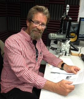 Randy Harris at KRWG FM studio.