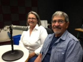 Margaret Mendoza, Local Organizing Committee Chair for The Health Security for New Mexicans Campaign; and Maury Castro, Member of the Executive Committee Board.