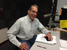 Frank Rene Lopez, Executive Director of Ngage New Mexico, at KRWG FM studios.