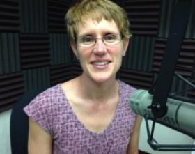 Kari Bachman at KRWG studios.