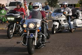 Motorcyclists leave the Dona Ana County Cooperative Extension Service parking lot in Las Cruces on the first leg of their journey during last year's Ride for the 4-H Clover motorcycle tour. This year's tour is Aug. 23-24.
