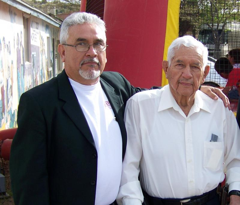 Arturo V. Flores and his son, Lorenzo