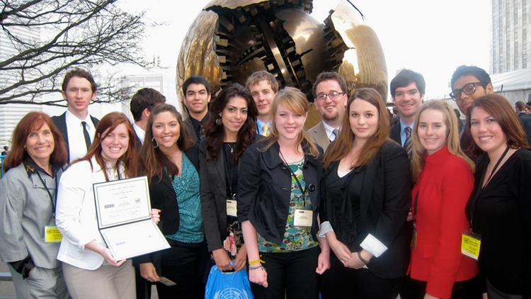 NMSU's 2010 Model U.N. Team, victorious in New York City.