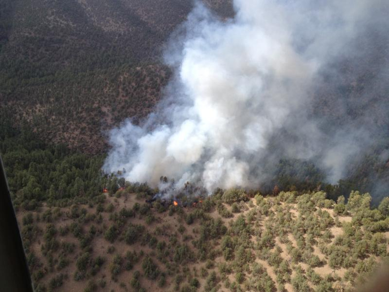 The Powder Fire from the air.