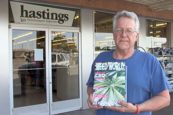 Medicinal Marijuana patient Robert Pack says Hastings Book store withdrew his job offer after he failed a drug test even though he is a registered medicinal marijuana patient