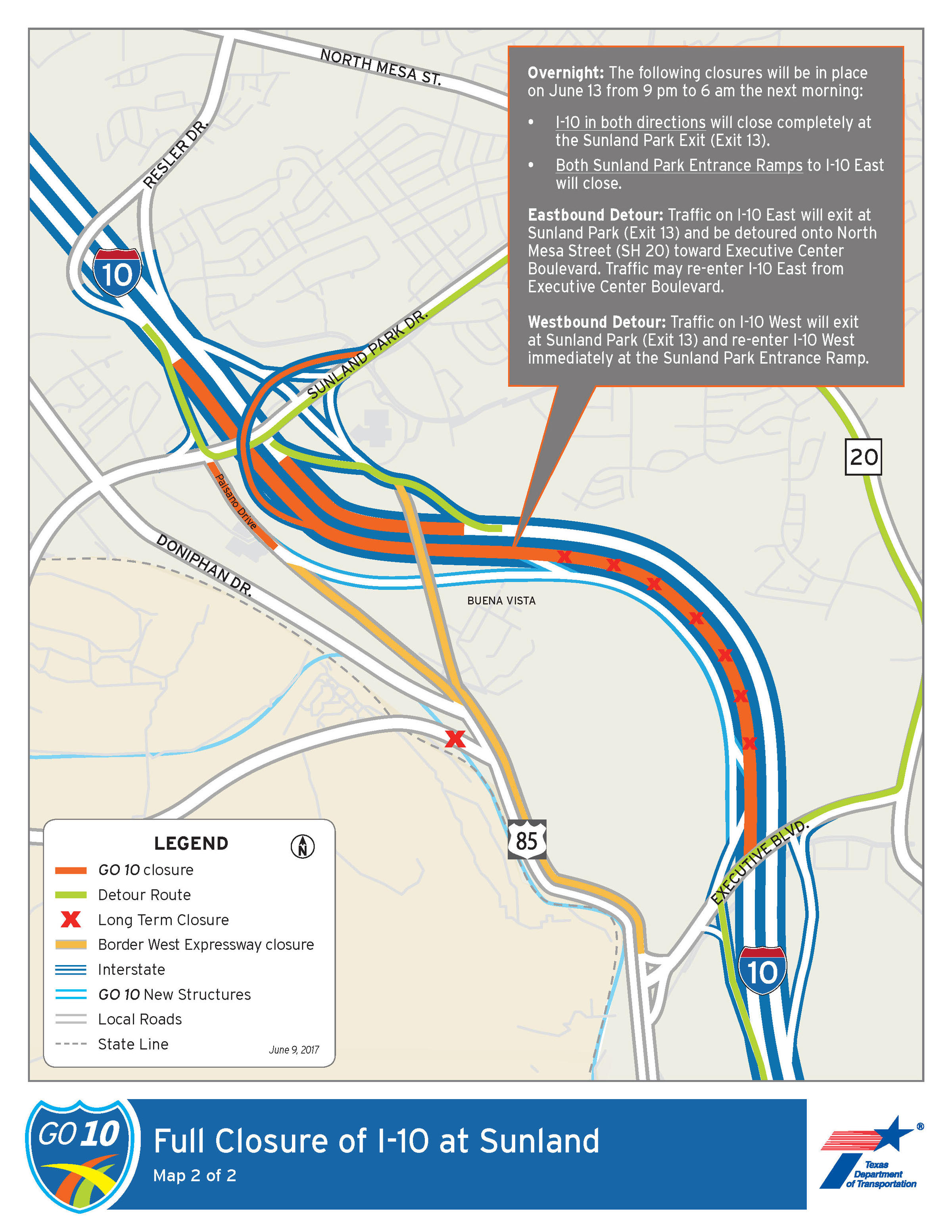 I Closures This Week KRWG - Map us route 20