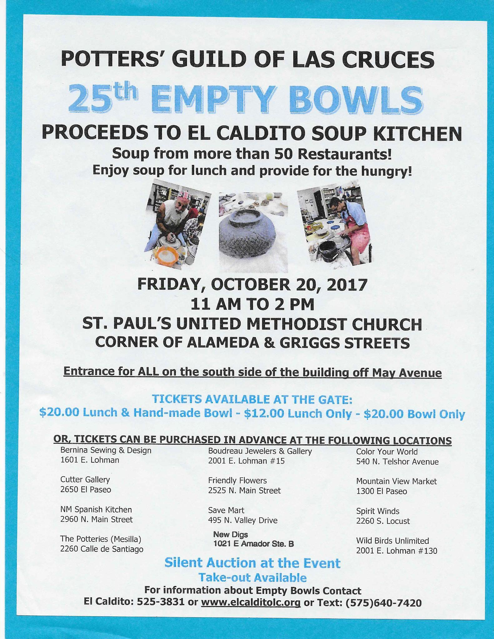 Celebrate Potters\' Guild of Las Cruces Empty Bowls\' 25th Anniversary ...
