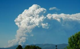 Pyrocumulus cloud from the Jaroso Fire on 6/11/13