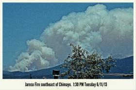 Jaroso fire noon June 11