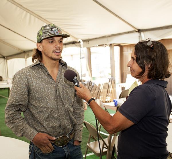 KSFR's Alice VanBuren interviews bull rider Dustin Muncy