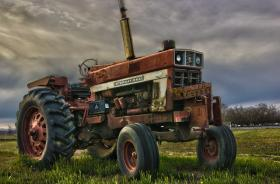 Old International Tractor HDR